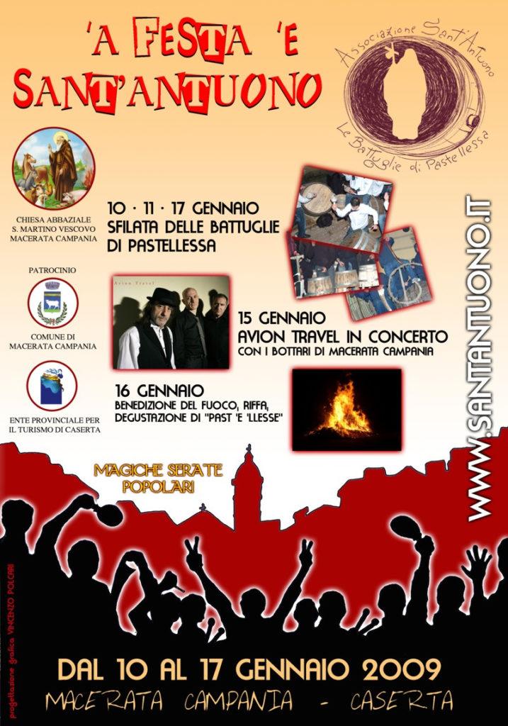 Festa di Sant'Antuono a Macerata Campania edizione 2009