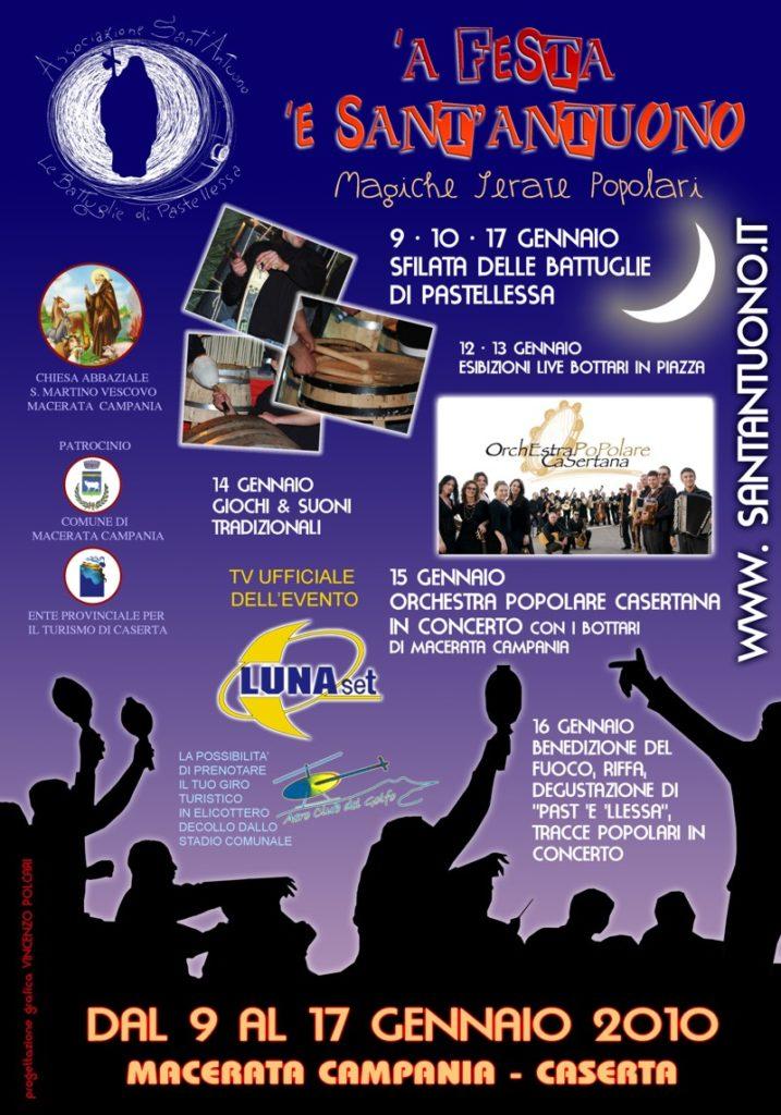 Festa di Sant'Antuono a Macerata Campania edizione 2010