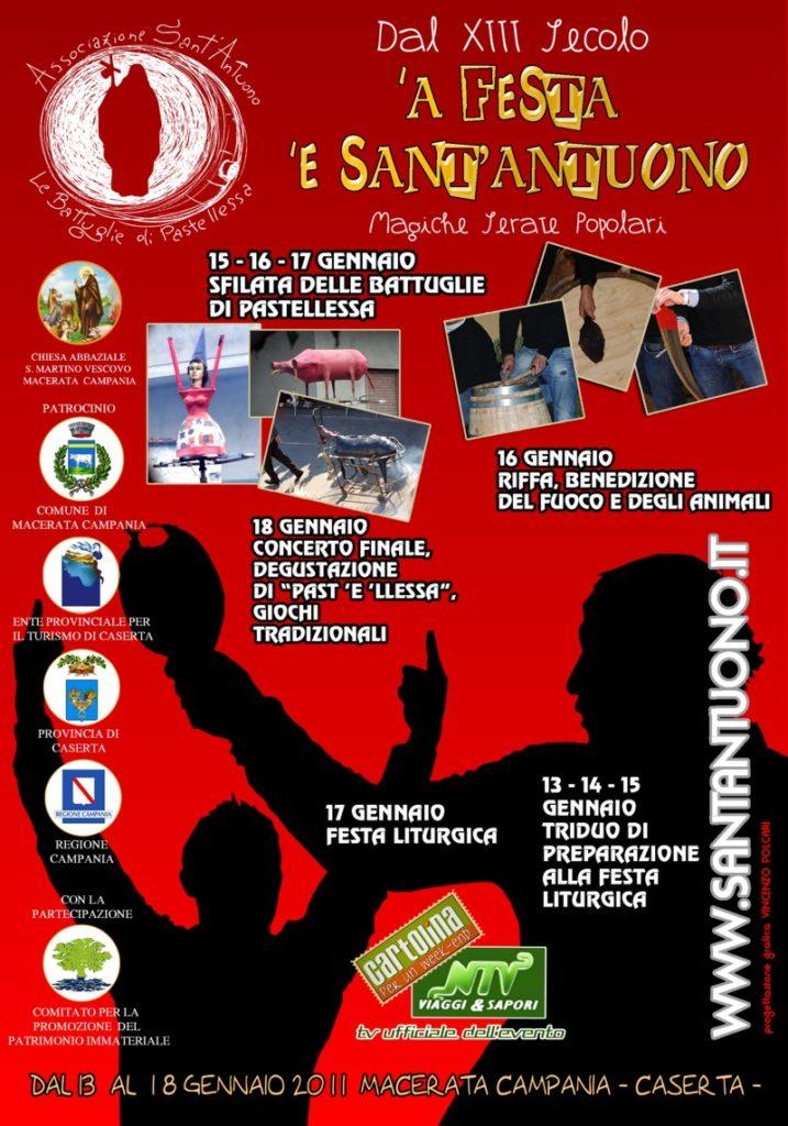 Festa di Sant'Antuono a Macerata Campania edizione 2011