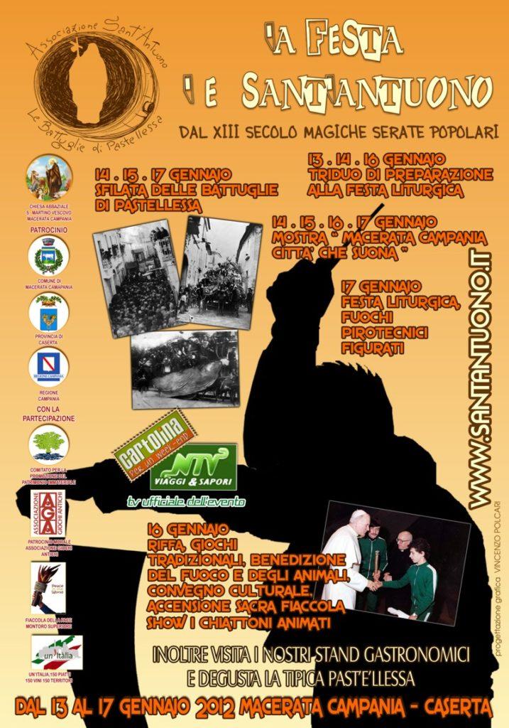 Festa di Sant'Antuono a Macerata Campania edizione 2012