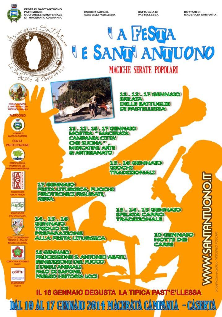 Festa di Sant'Antuono a Macerata Campania edizione 2014