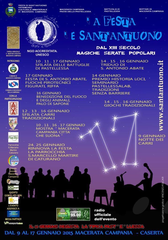 Festa di Sant'Antuono a Macerata Campania edizione 2015