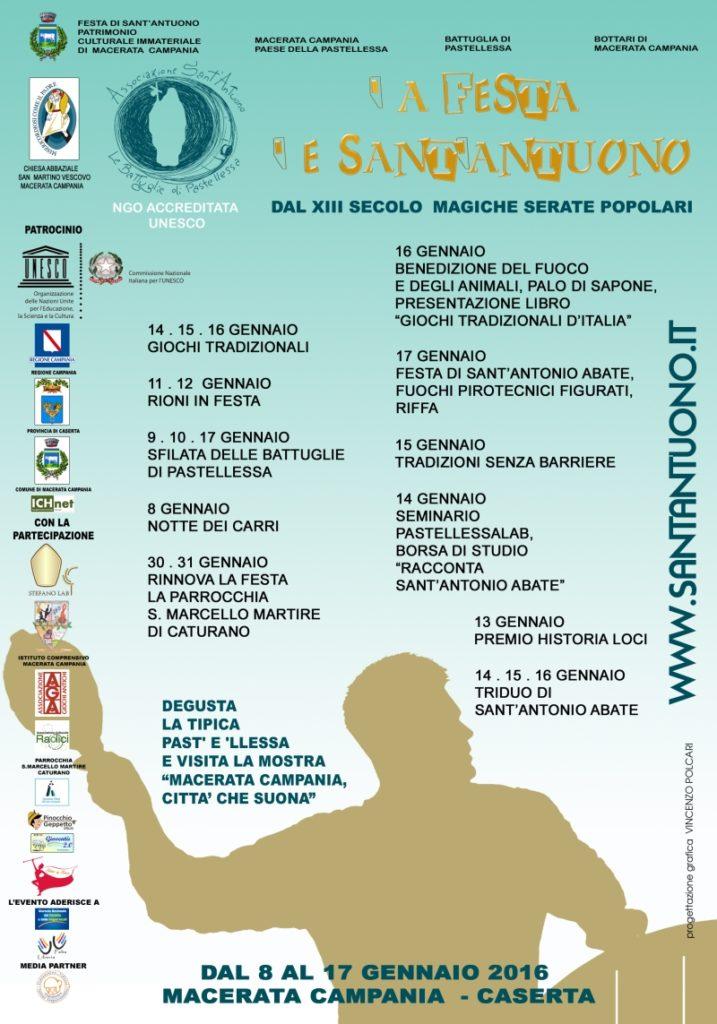 Festa di Sant'Antuono a Macerata Campania edizione 2016