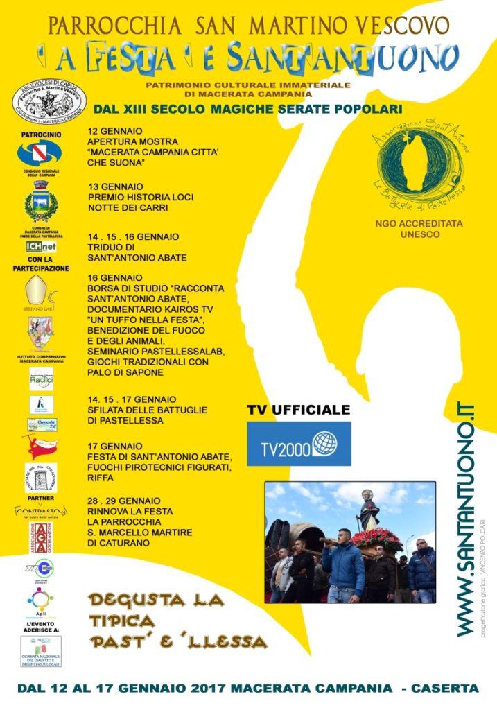 Festa di Sant'Antuono a Macerata Campania edizione 2017