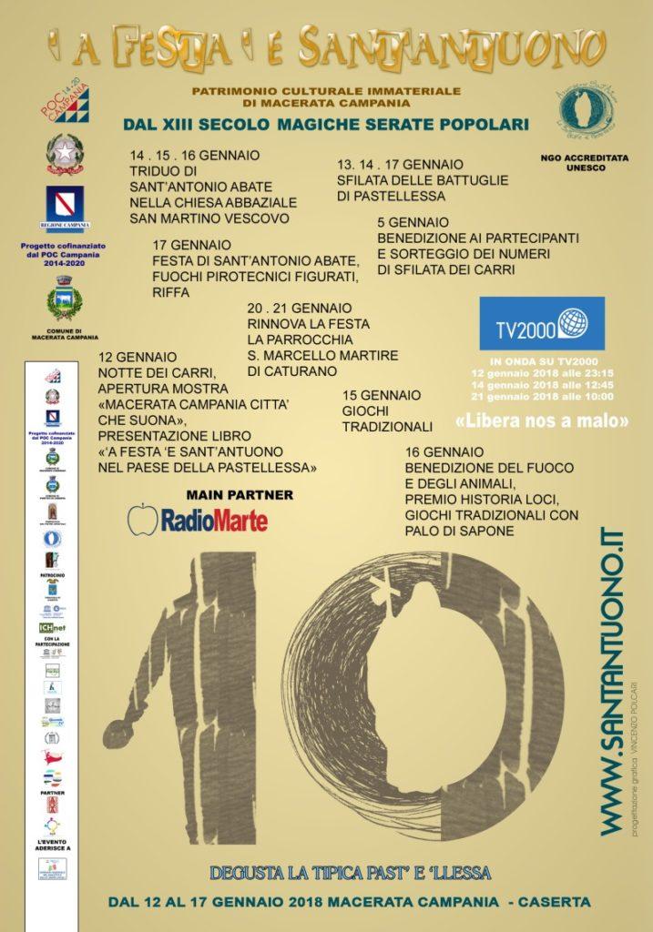 Festa di Sant'Antuono a Macerata Campania edizione 2018