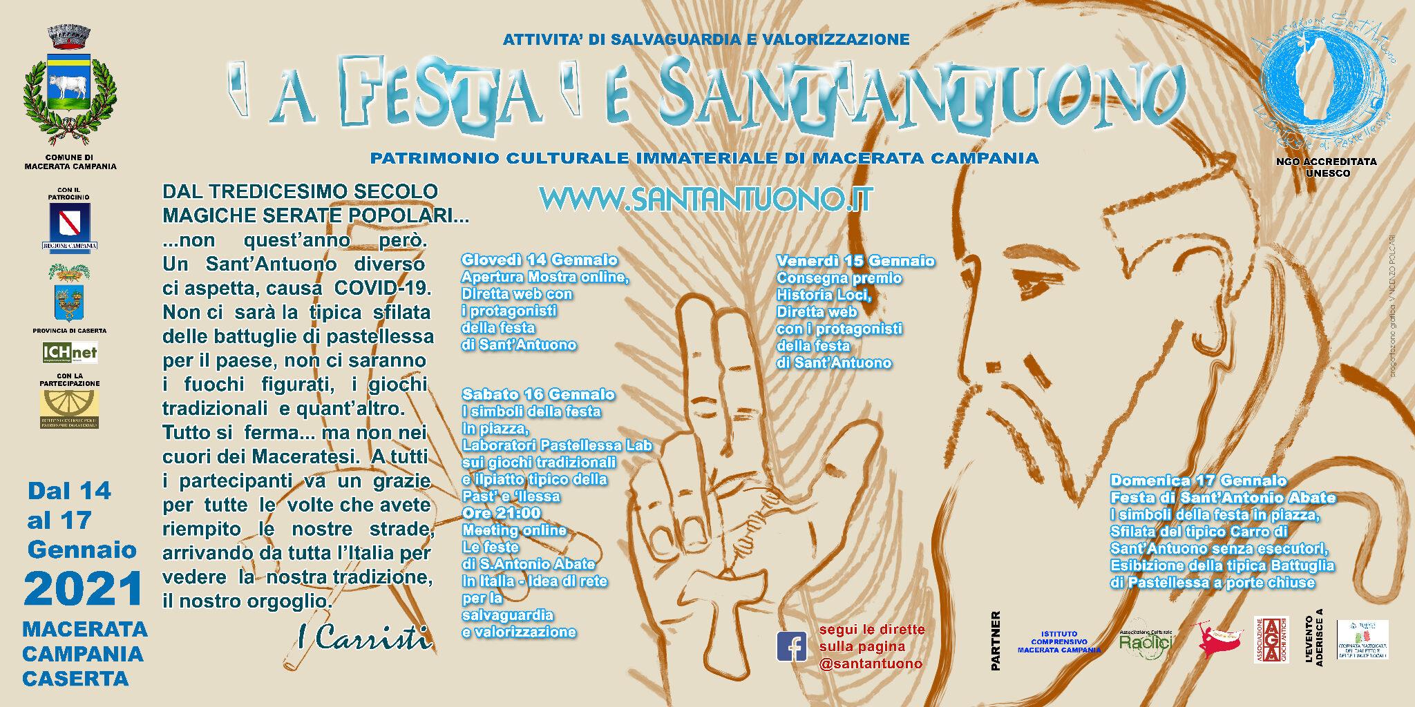 Festa di Sant'Antuono a Macerata Campania edizione 2021